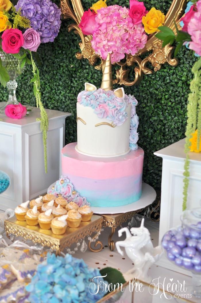 Rainbow And Unicorn Party Ideas  Kara s Party Ideas Vibrant Unicorn Birthday Party