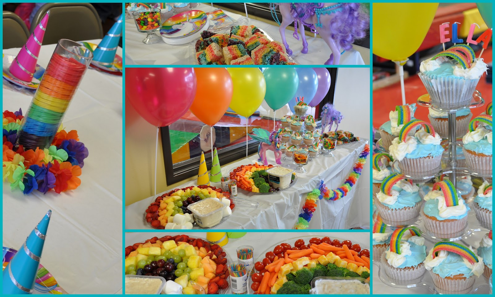 Rainbow And Unicorn Party Ideas  Clearly Candace Ninjas Unicorns and Rainbows Oh My