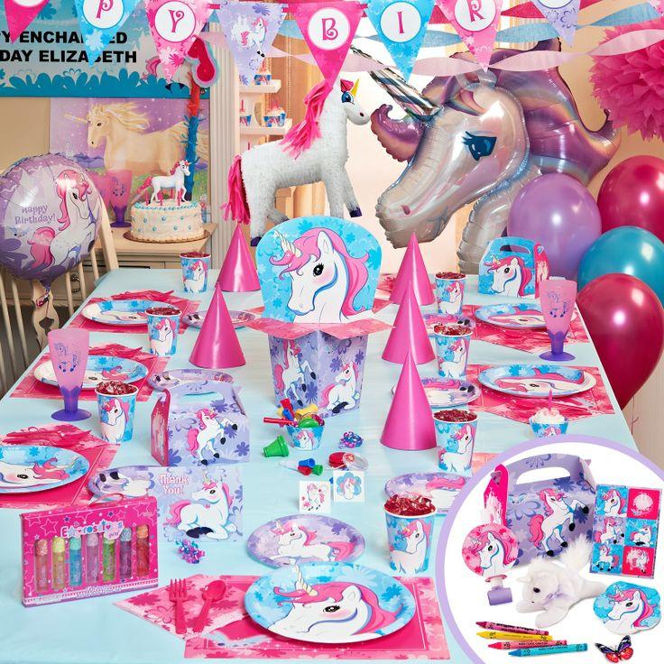 Rainbow And Unicorn Party Ideas  enchanted unicorn