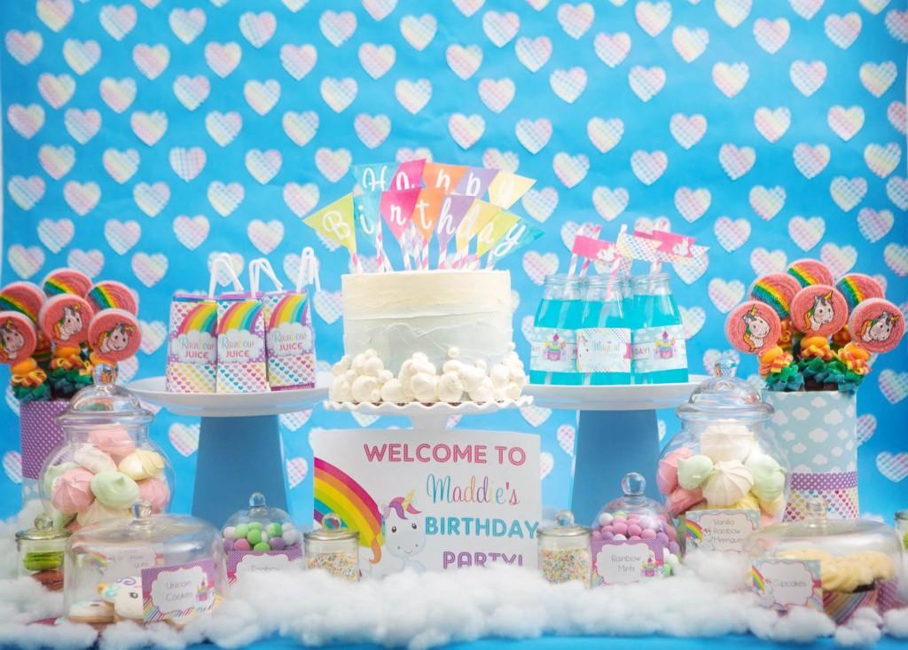 Rainbow And Unicorn Party Ideas  Rainbow Unicorn Theme
