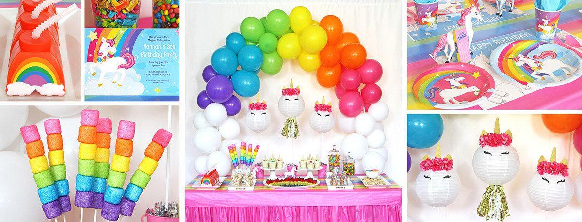 Rainbow And Unicorn Party Ideas  Unicorn Party Supplies Birthday Decorations