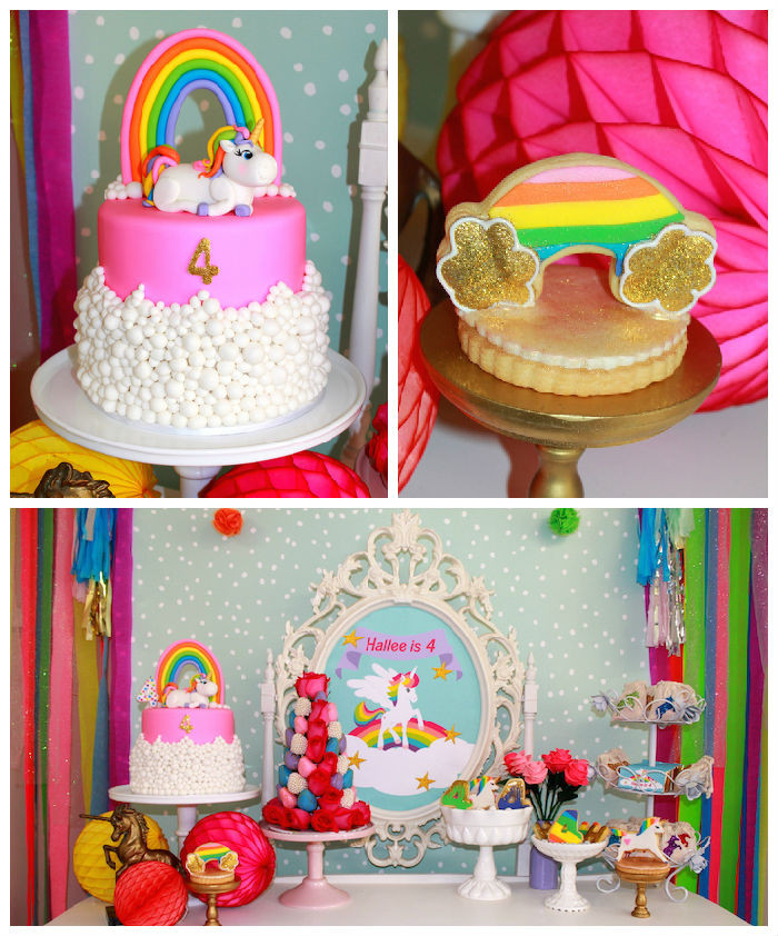 Rainbow Unicorn Birthday Party Ideas  Kara s Party Ideas Rainbow Unicorn Themed Birthday Party