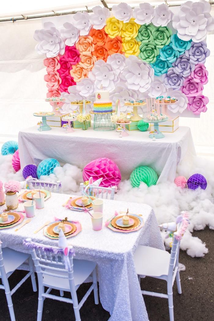 Rainbow Unicorn Birthday Party Ideas  Kara s Party Ideas Magical Unicorn Birthday Party
