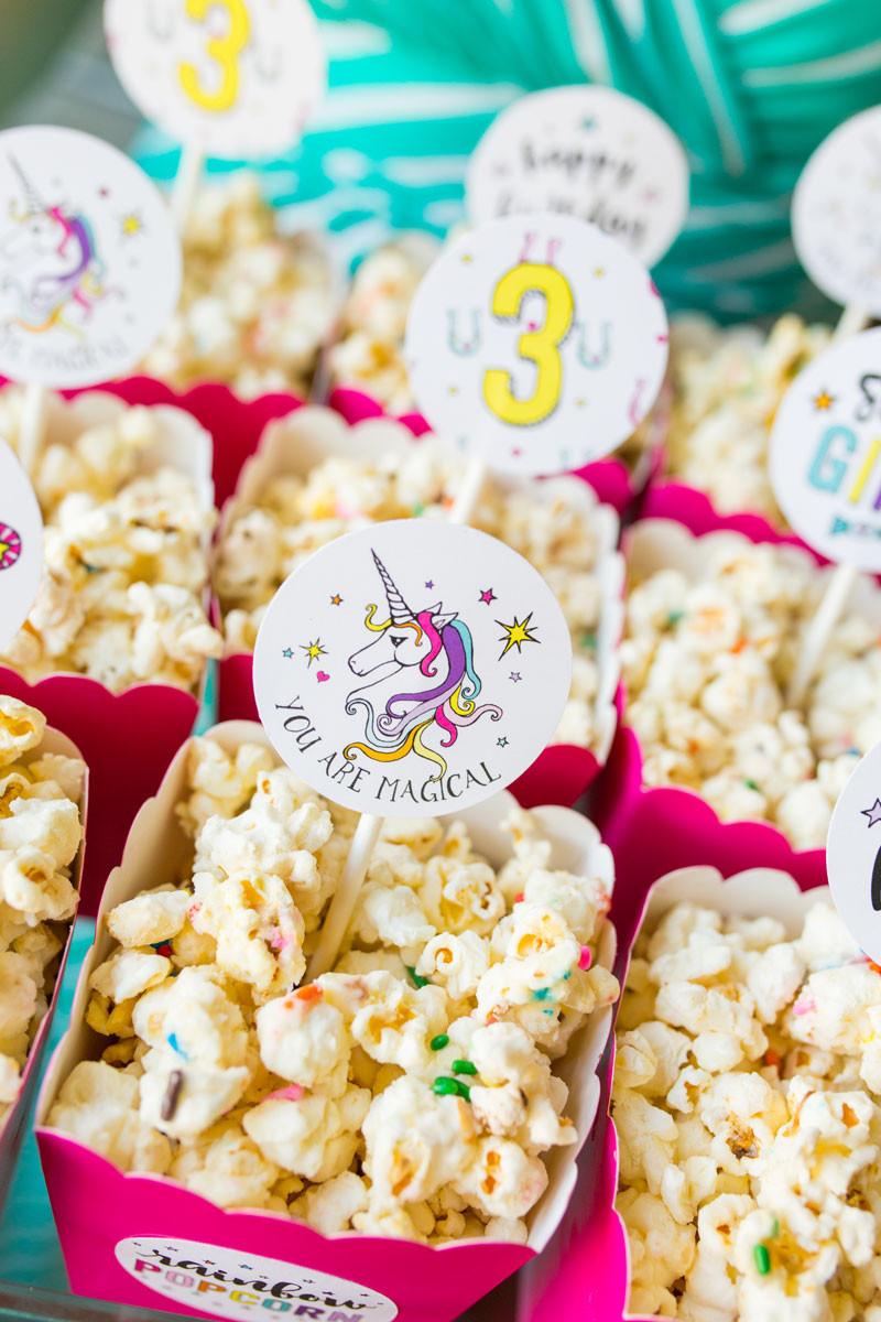Rainbow Unicorn Birthday Party Ideas  Rainbow Po Labels
