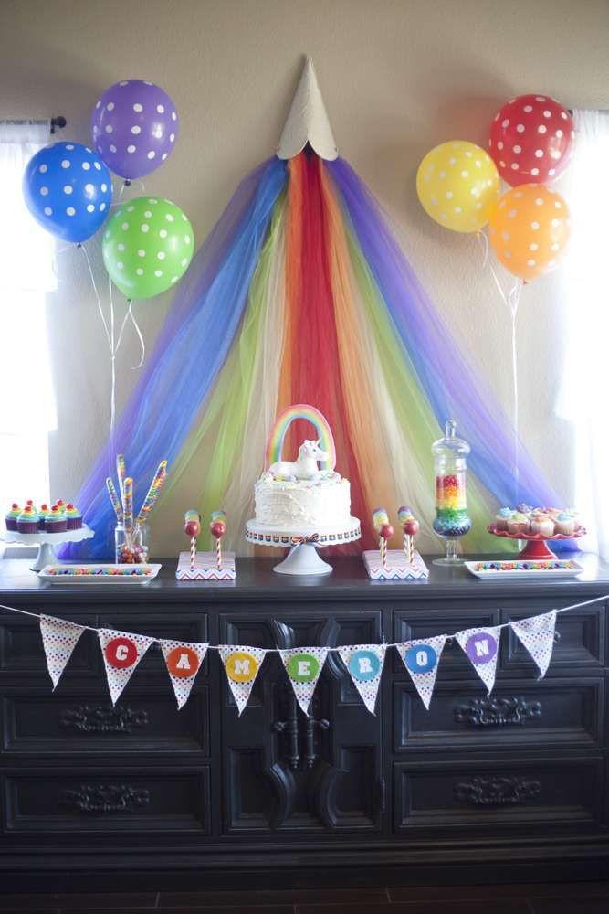 Rainbow Unicorn Birthday Party Ideas  Rainbow Unicorn Birthday Party Ideas