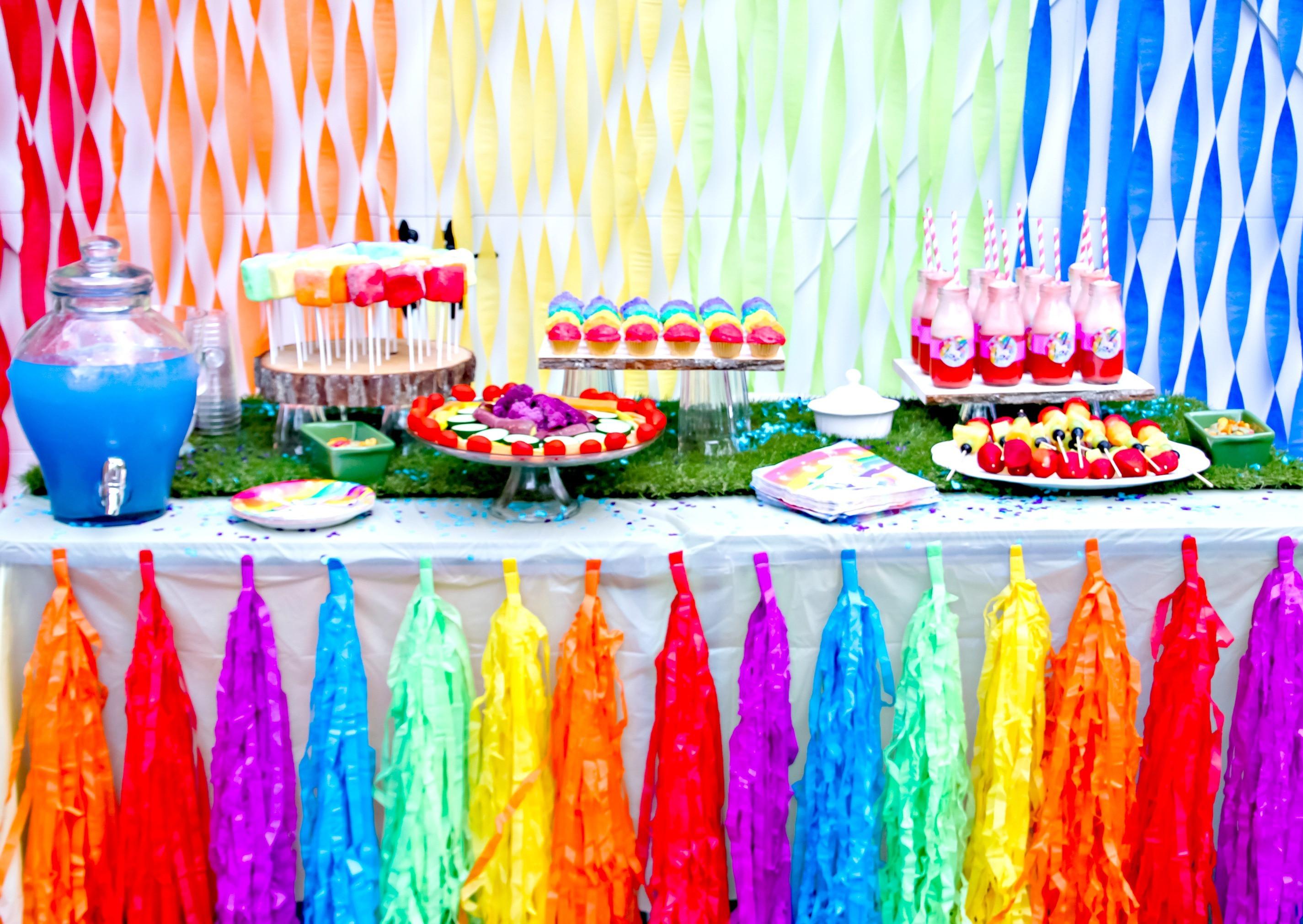 Rainbow Unicorn Birthday Party Ideas  Unicorn Birthday Party