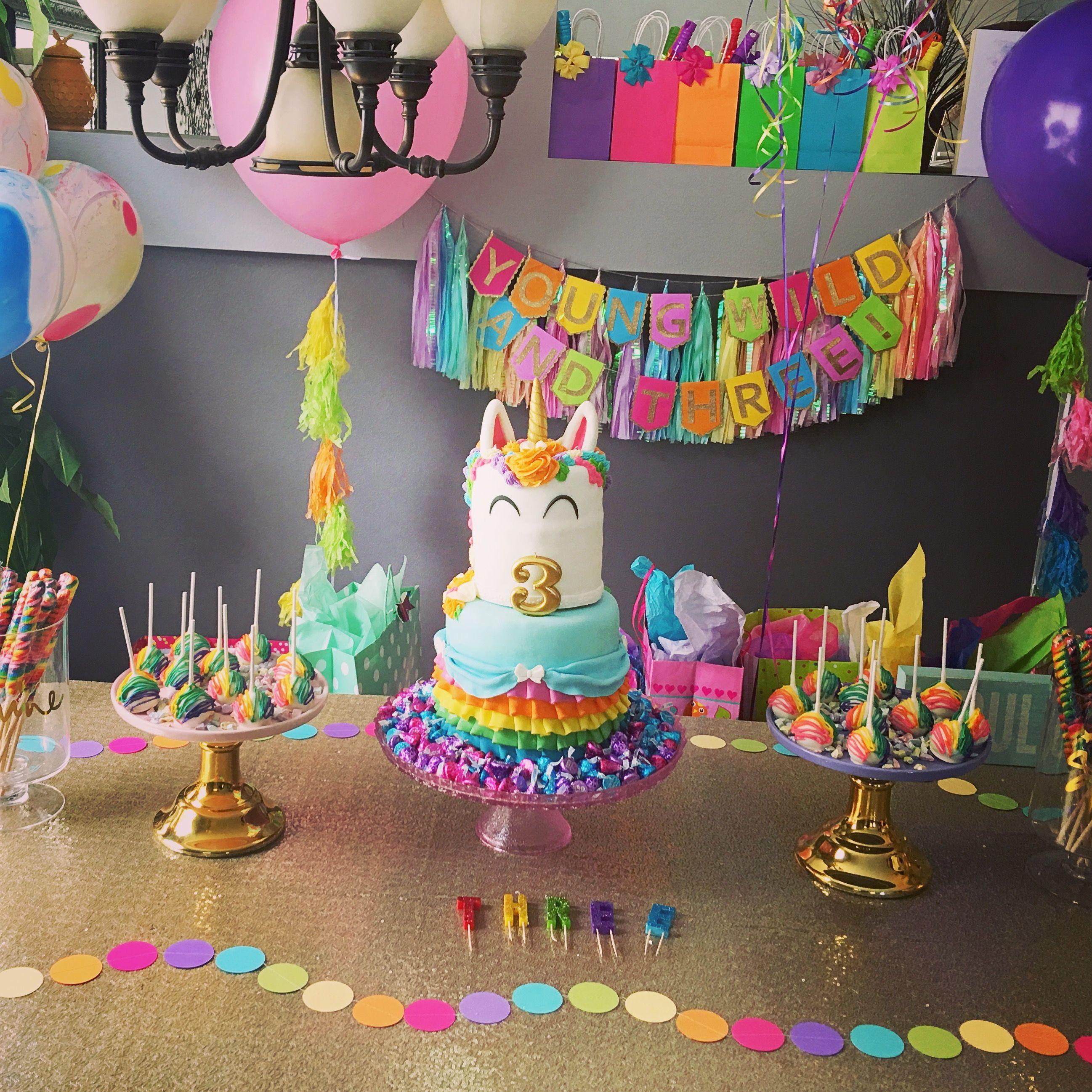 Rainbow Unicorn Birthday Party Ideas  Rainbow & Party Rilo 1st Birthday in 2019