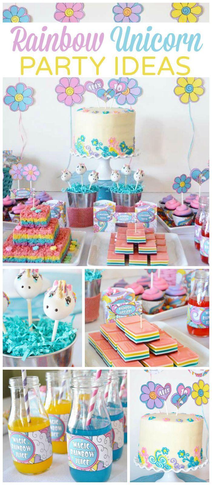 Rainbow Unicorn Birthday Party Ideas  25 best ideas about Rainbow unicorn on Pinterest