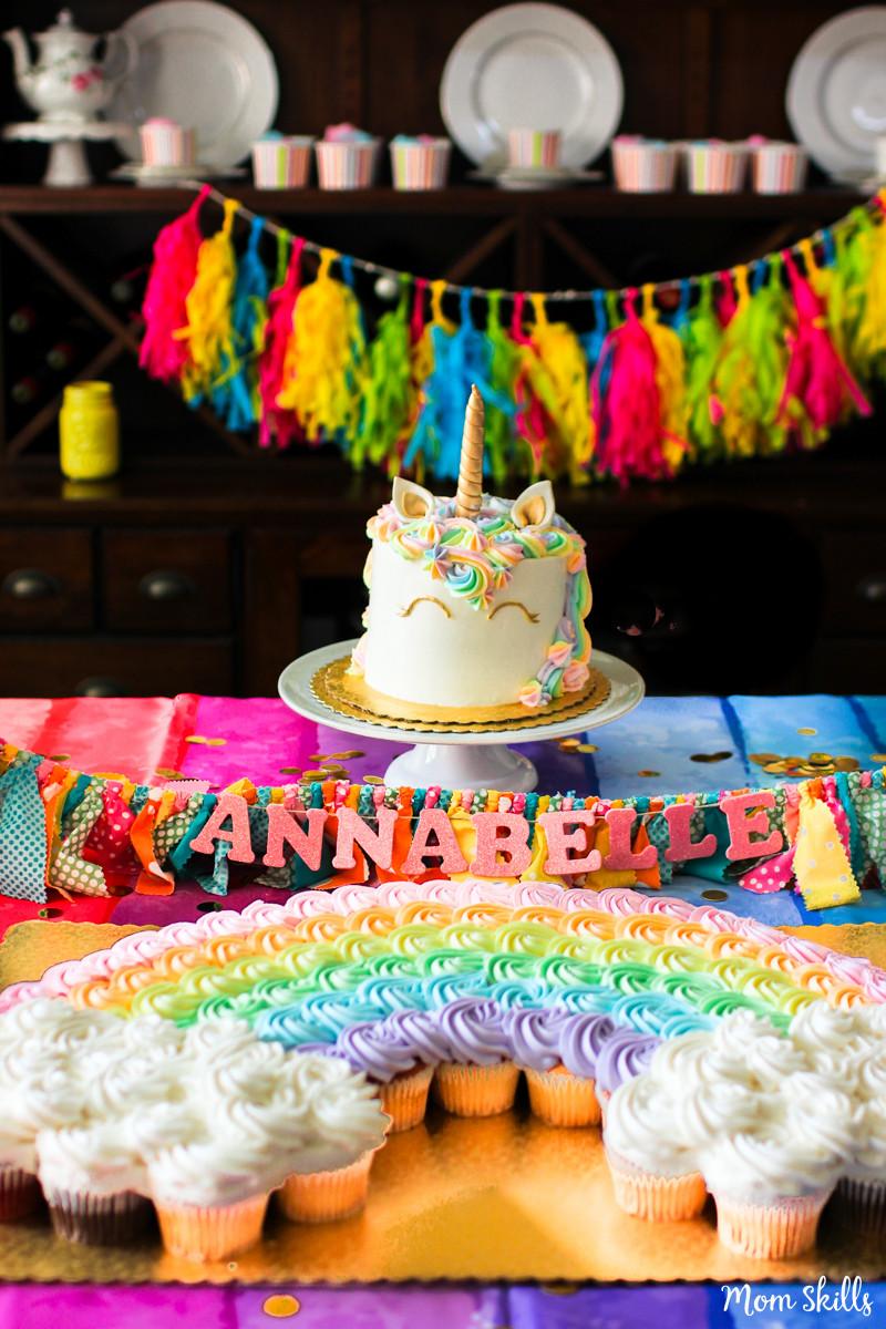 Rainbow Unicorn Birthday Party Ideas  Unicorn Party Ideas Rainbows Galore and More