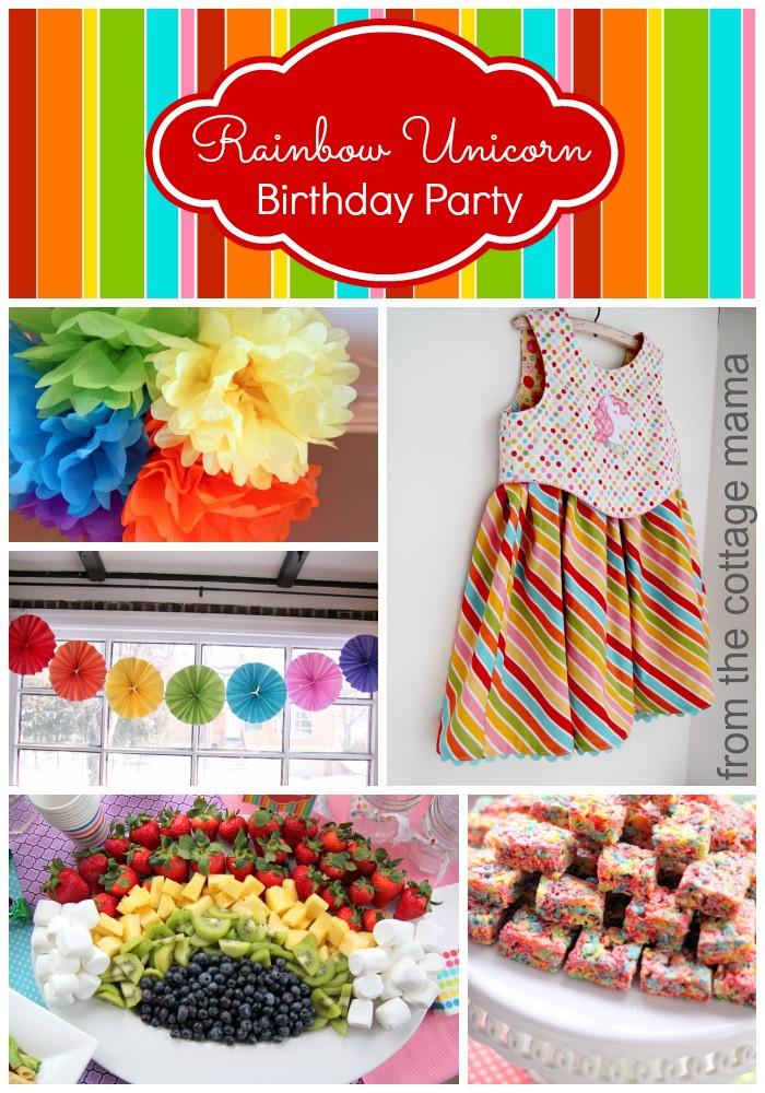 Rainbow Unicorn Birthday Party Ideas  Rainbow Unicorn Birthday Party with Free Printables The