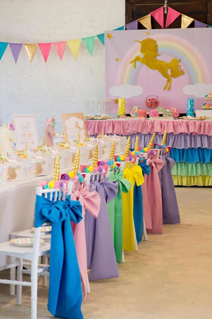 Rainbow Unicorn Birthday Party Ideas  Kara s Party Ideas Pastel Rainbow Unicorn Birthday Party