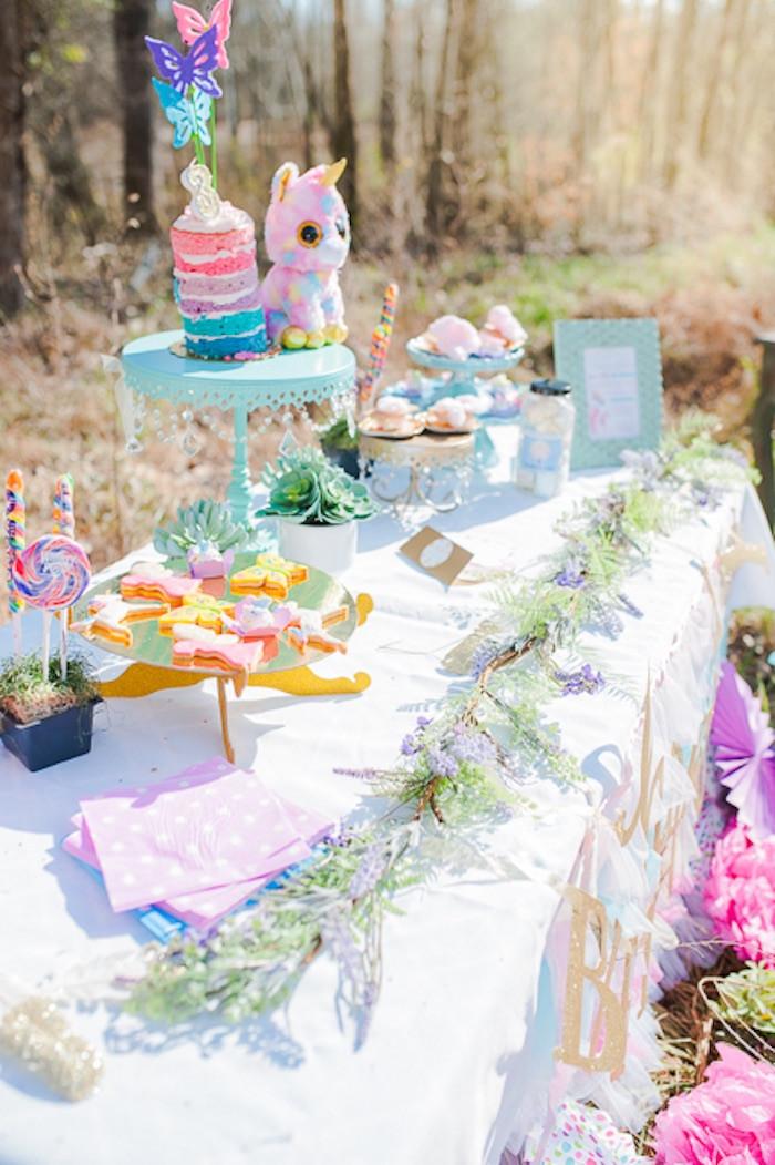 Rainbow Unicorn Birthday Party Ideas  Kara s Party Ideas Magical Unicorns Fairies & Rainbows