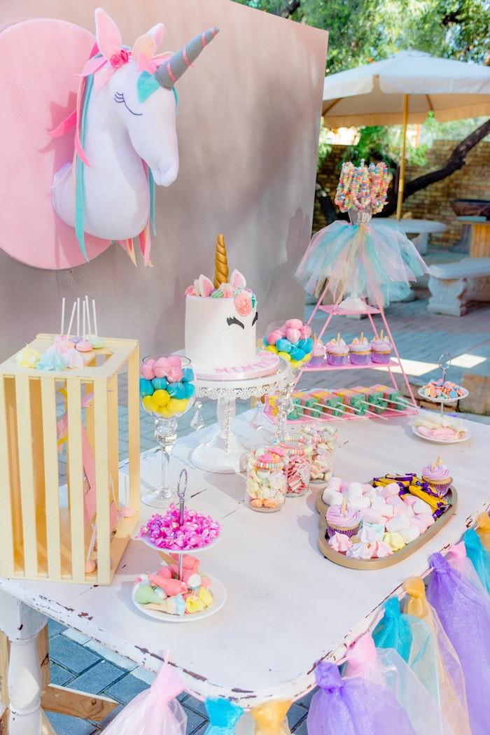 Rainbow Unicorn Birthday Party Ideas  Kara s Party Ideas Rainbows and Unicorns Birthday Party