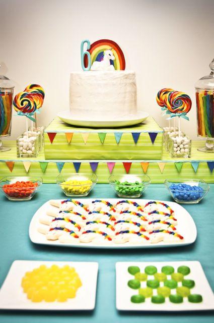 Rainbow Unicorn Birthday Party Ideas  Kara s Party Ideas Unicorn Rainbow Birthday Party