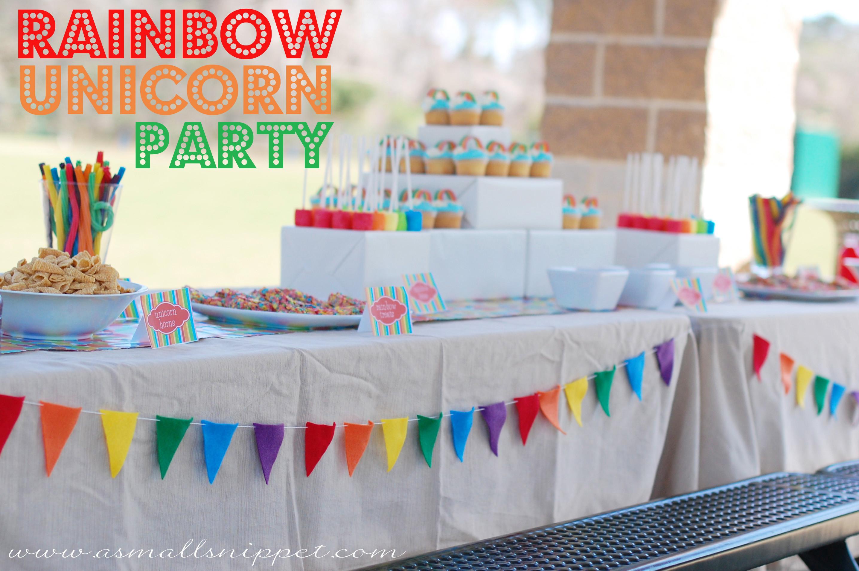 Rainbow Unicorn Birthday Party Ideas  Rainbow Unicorn Party