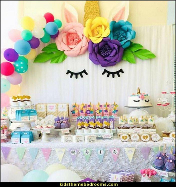 Rainbow Unicorn Birthday Party Ideas  Decorating theme bedrooms Maries Manor unicorn party