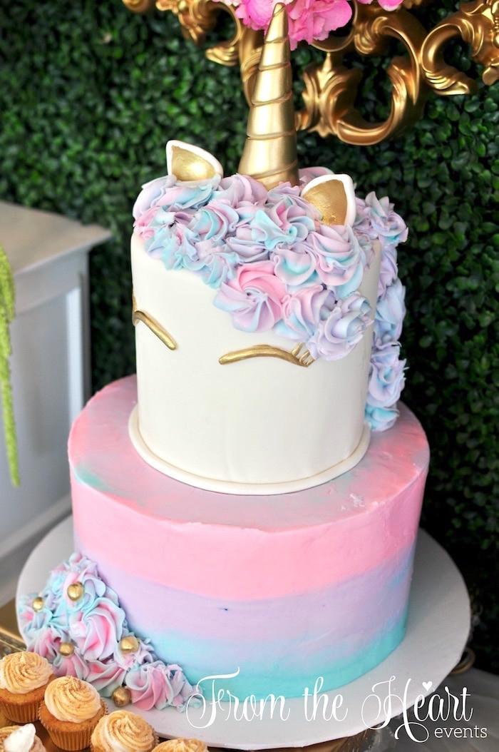 Rainbow Unicorn Birthday Party Ideas  Kara s Party Ideas Vibrant Unicorn Birthday Party