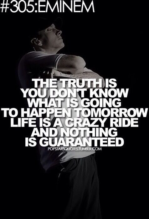 Rap Quotes About Life  Truth is you really don t know Quotes