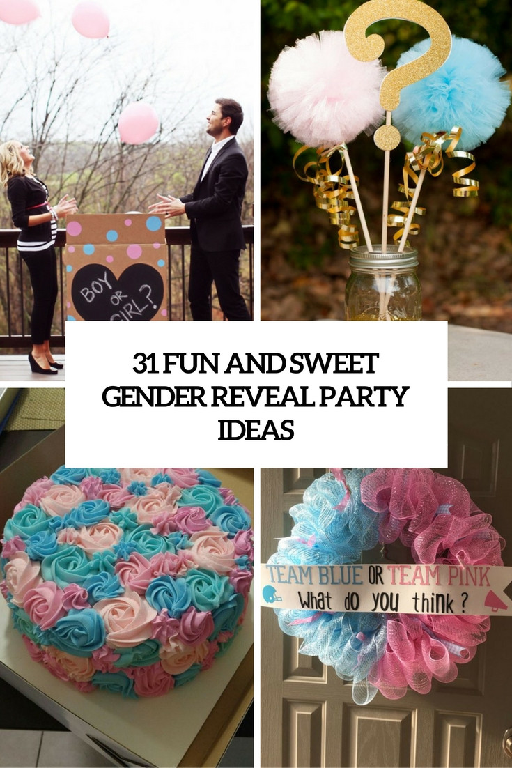 Reveal Baby Gender Party Ideas  31 Fun And Sweet Gender Reveal Party Ideas Shelterness