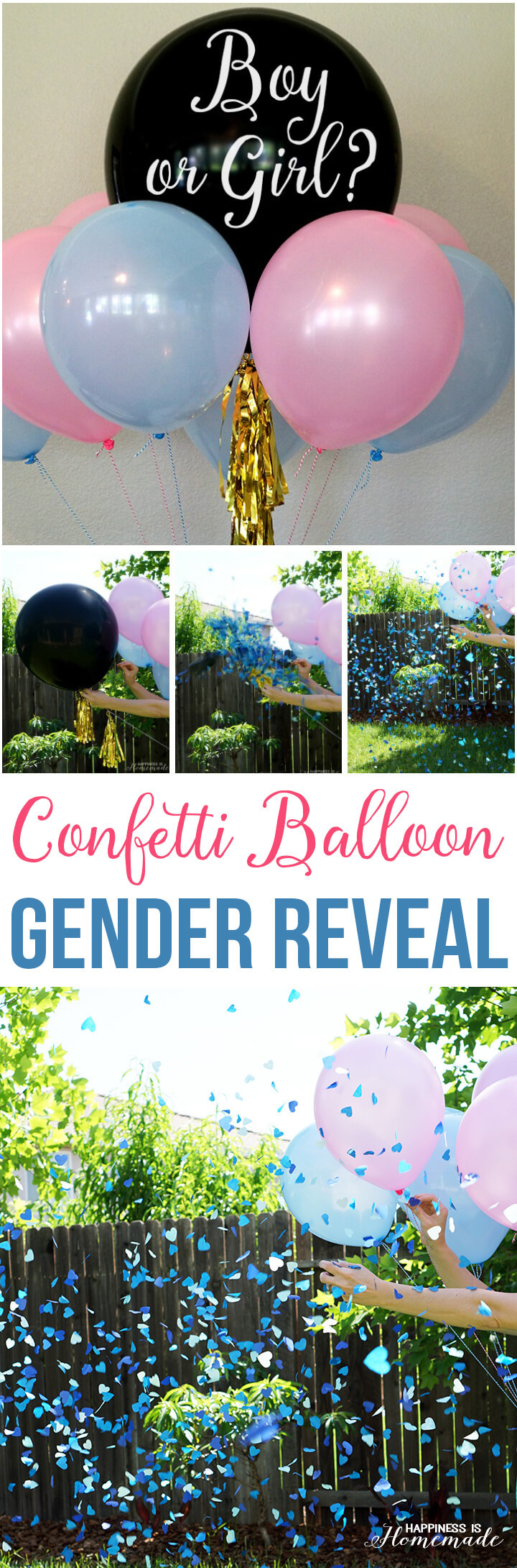 Reveal Baby Gender Party Ideas  Baby Gender Reveal Party Ideas Happiness is Homemade