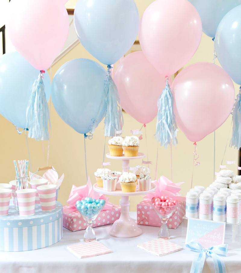 Reveal Baby Gender Party Ideas  Boy or Girl Blue Pink Gender Reveal Party