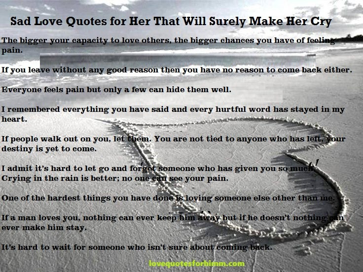 Romantic Quotes For Her To Make Her Cry  love quotes for her that will make her cry