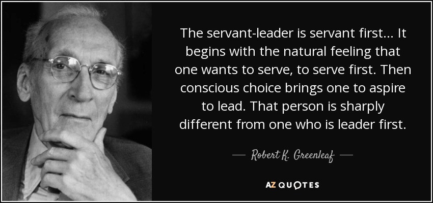Servant Leadership Quote  TOP 25 SERVANT LEADERSHIP QUOTES of 58