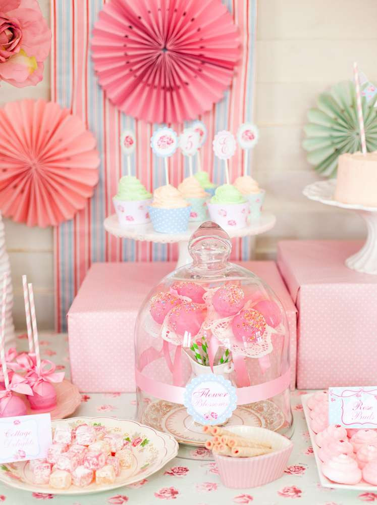 Shabby Chic Birthday Decorations  Shabby Chic Princess Party Birthday Party Ideas