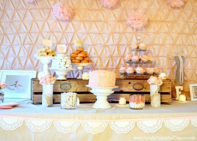 Shabby Chic Birthday Decorations  Shabby Chic First Birthday Party Taryn Whiteaker
