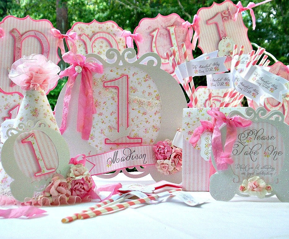 Shabby Chic Birthday Decorations  Shabby Chic Princess Party Decorations Package