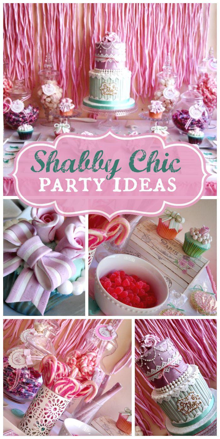 """Shabby Chic Birthday Decorations  Shabby Chic Vintage Glam Birthday """"shabby chic party"""