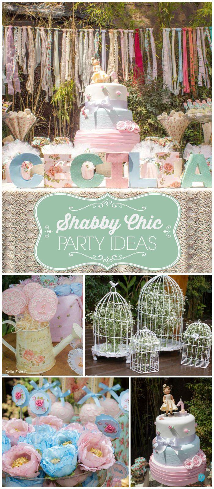 Shabby Chic Birthday Decorations  25 best ideas about Shabby Chic Birthday on Pinterest