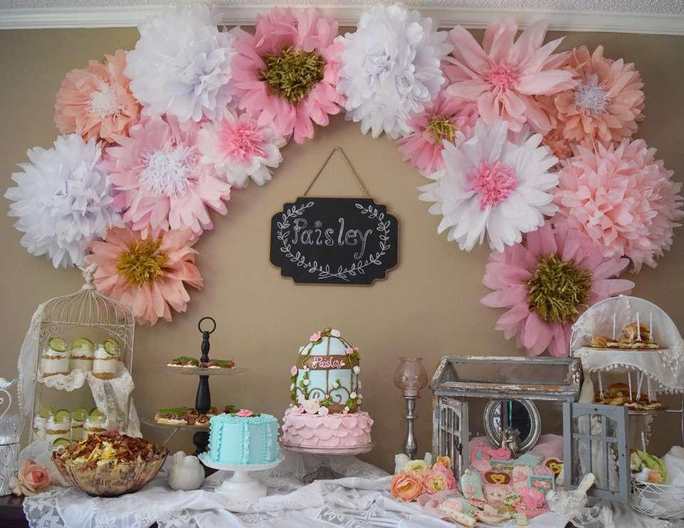 """Shabby Chic Birthday Decorations  Shabby chic flowers Birthday """"Paisley s shabby chic"""