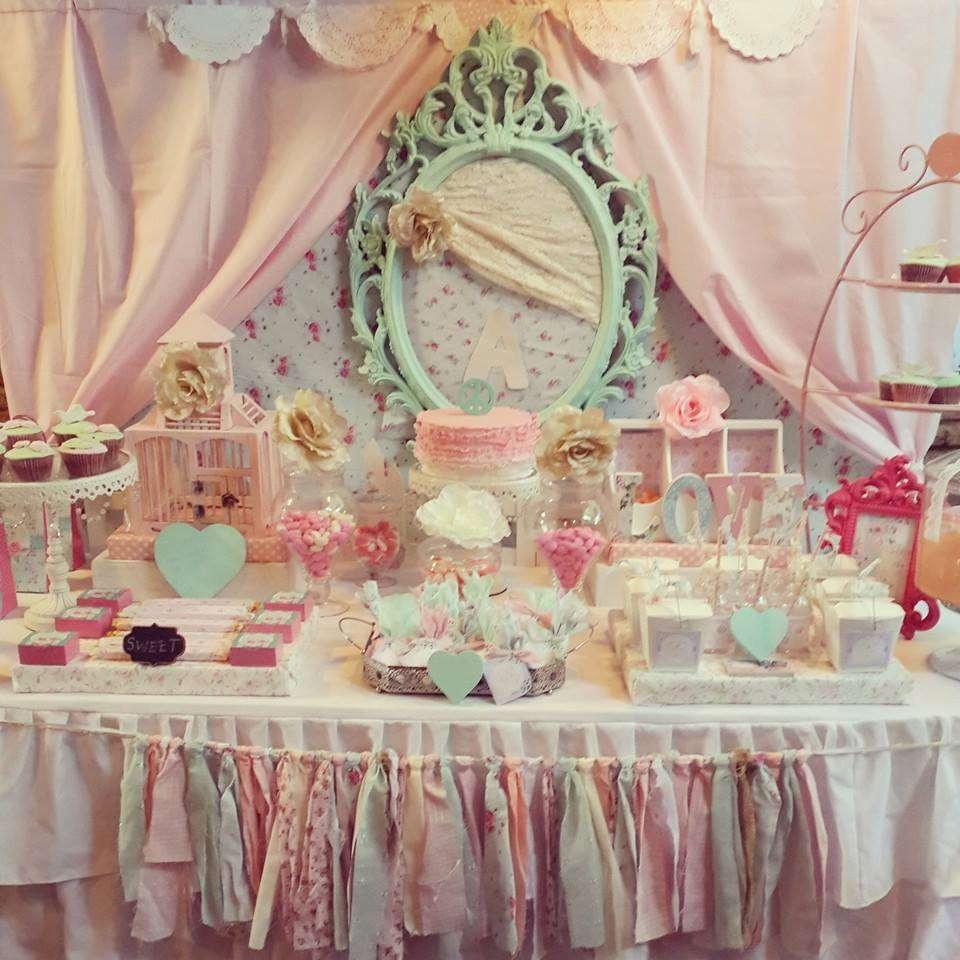 Shabby Chic Birthday Decorations  Shabby Chic Birthday Party Ideas 2 of 19