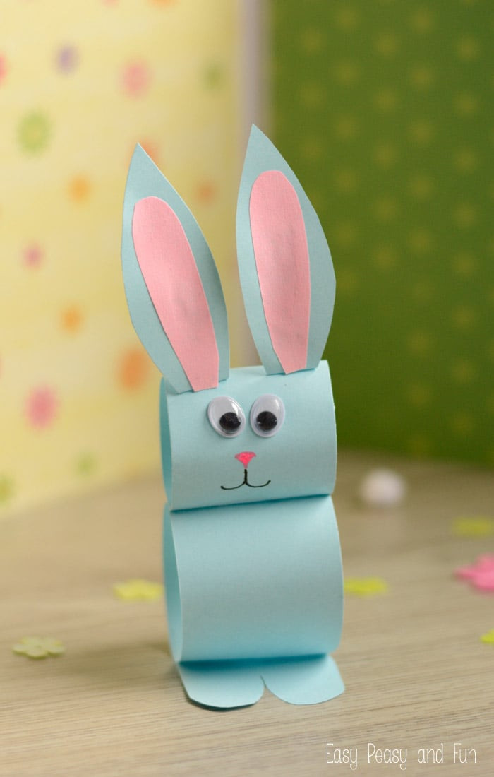 Simple Crafts For Kids  Paper Bunny Craft Easy Easter Craft for Kids Easy