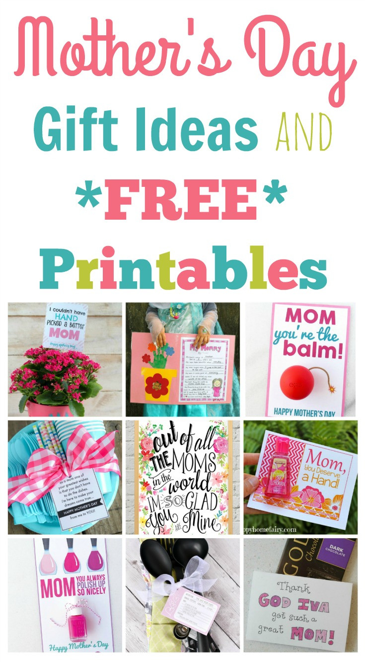 Simple Mother'S Day Gift Ideas  Quick and Easy Mother s Day Gift Ideas and Printables