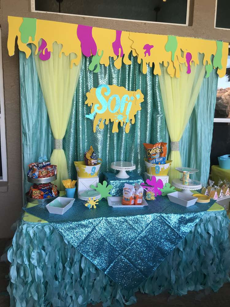 Slime Birthday Party Ideas  Slime Birthday Party Ideas 1 of 34
