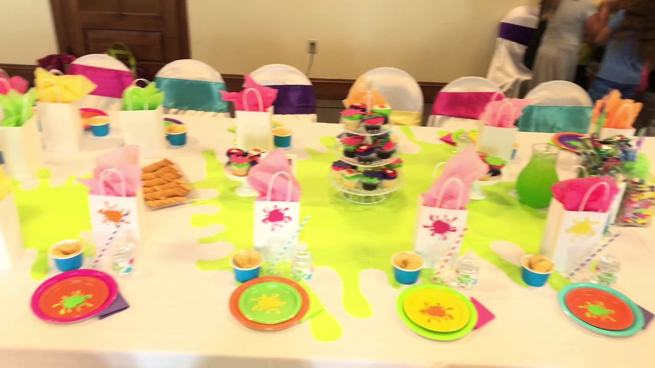 Slime Birthday Party Ideas  Slime Themed Birthday Party by Girly Girl Partea's