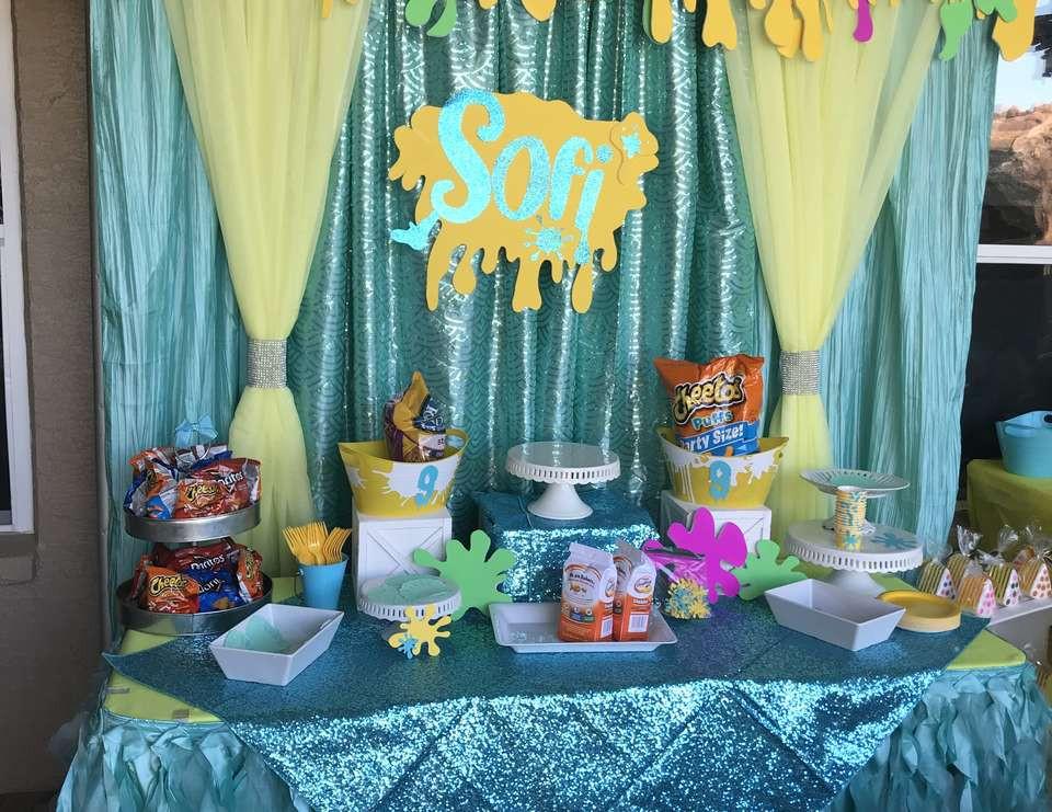 """Slime Birthday Party Ideas  Slime Birthday """"Sofi's Slime Party"""""""