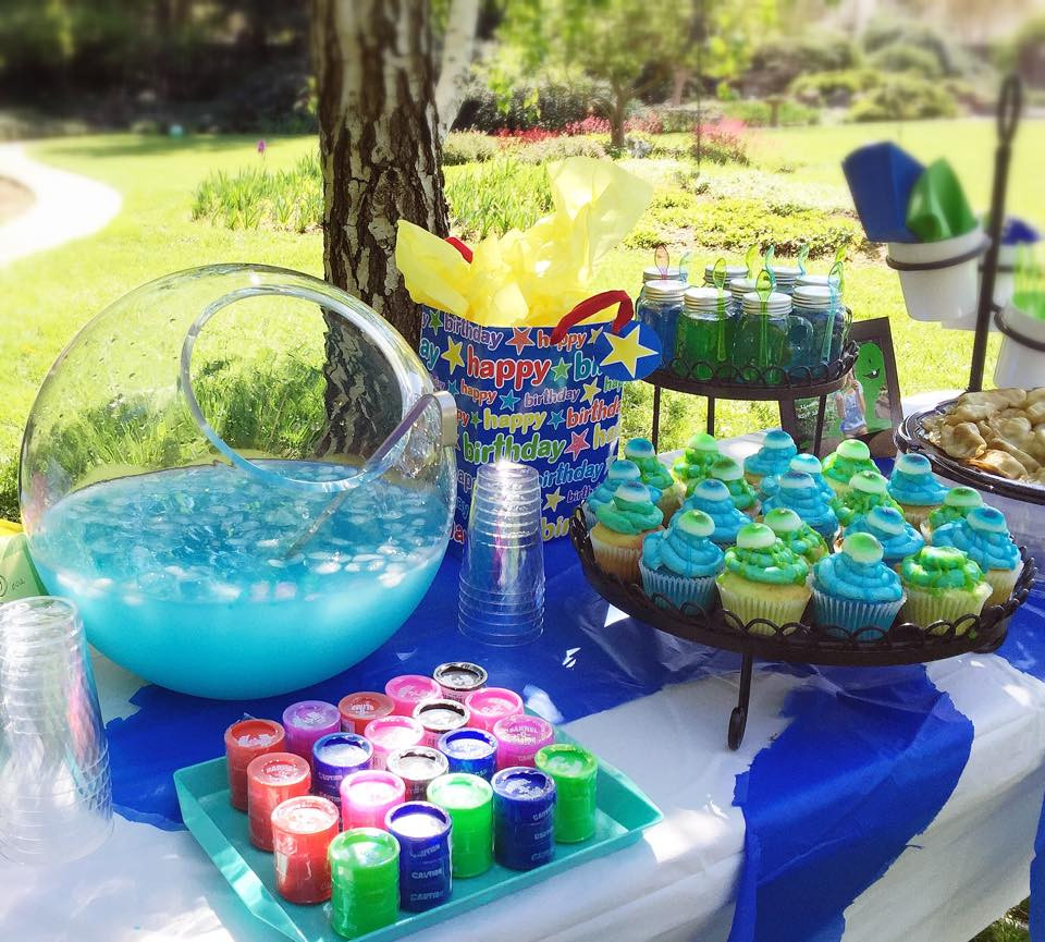 Slime Birthday Party Ideas  The Spices Life Slimy 7th Birthday Party