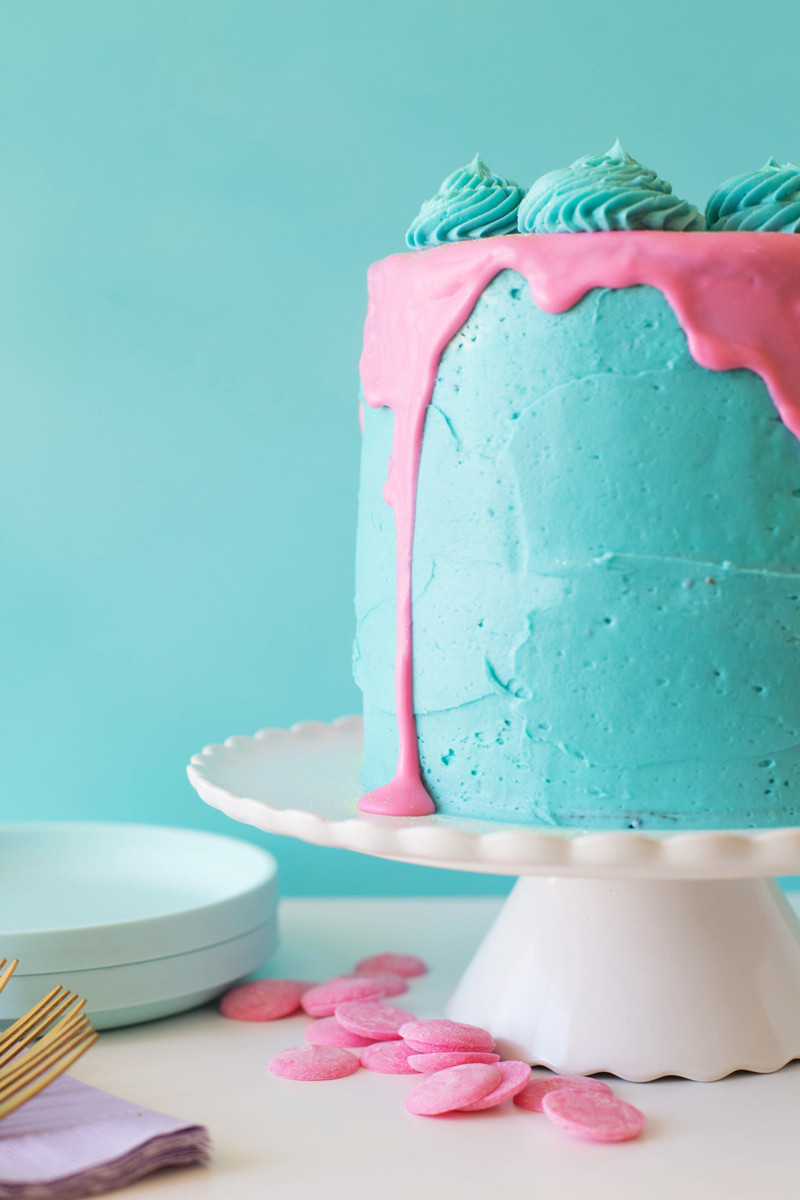 Slime Birthday Party Ideas  Marshmallow Creme Slime Party Cake • A Subtle Revelry