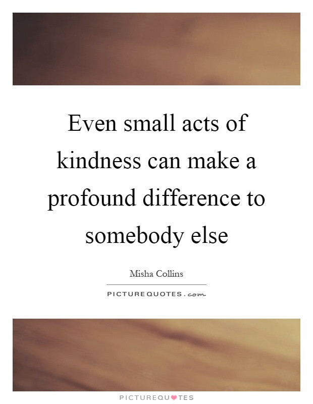 Small Acts Of Kindness Quotes  Acts Kindness Quotes & Sayings