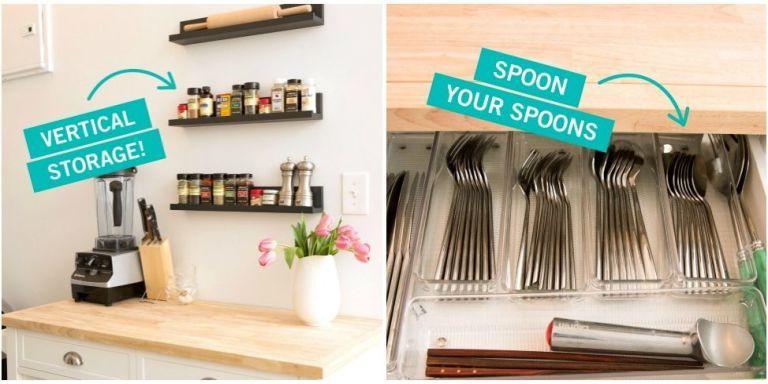 Small Kitchen Organization  Storage Tricks for a Tiny Kitchen Small Kitchen Organization