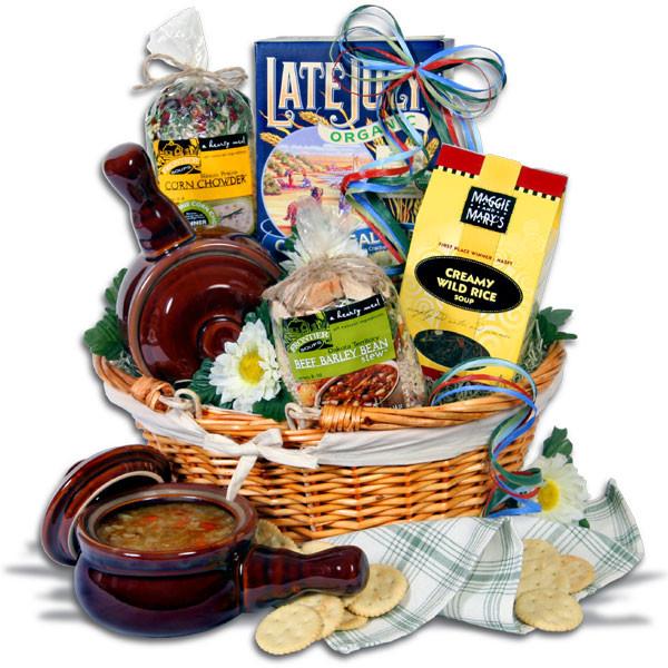 Soup Gift Basket Ideas  Soup and Crocks Gift Basket by GourmetGiftBaskets
