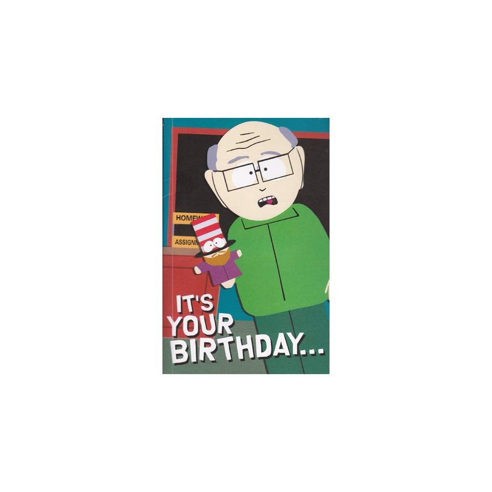 South Park Birthday Card  Greeting Card Birthday Card with Sound South Park Its on