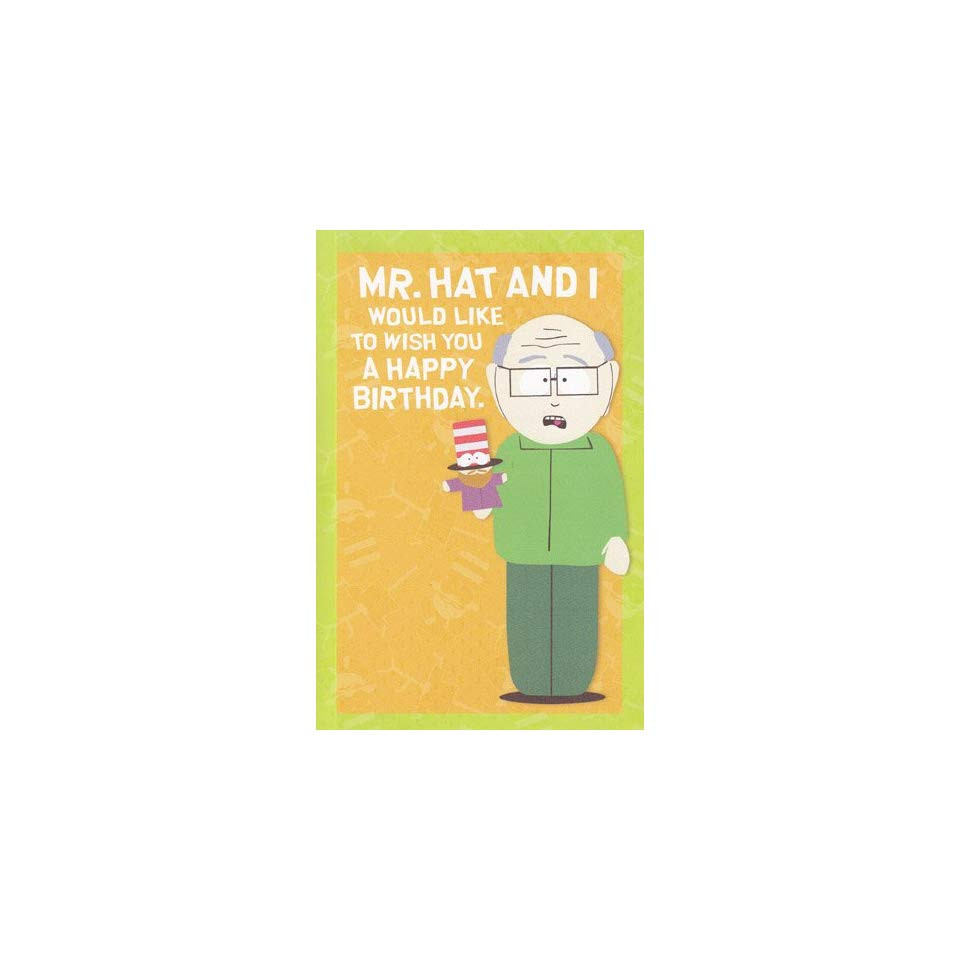 South Park Birthday Card  Greeting Card Birthday South Park Humor Mr Hat and I