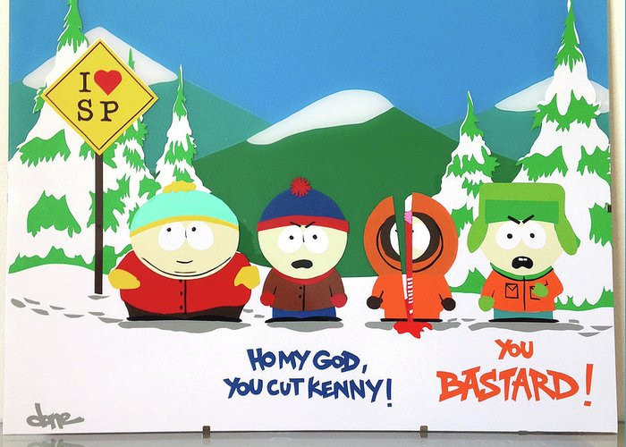 South Park Birthday Card  I Love South Park Greeting Card for Sale by Thomas ALABERT