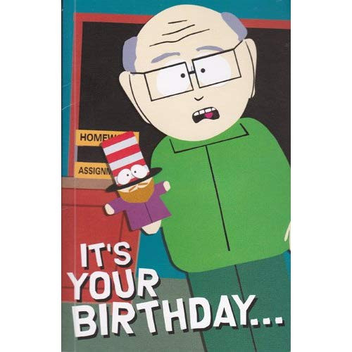 South Park Birthday Card  Greeting Card Birthday Card with Sound South Park Its