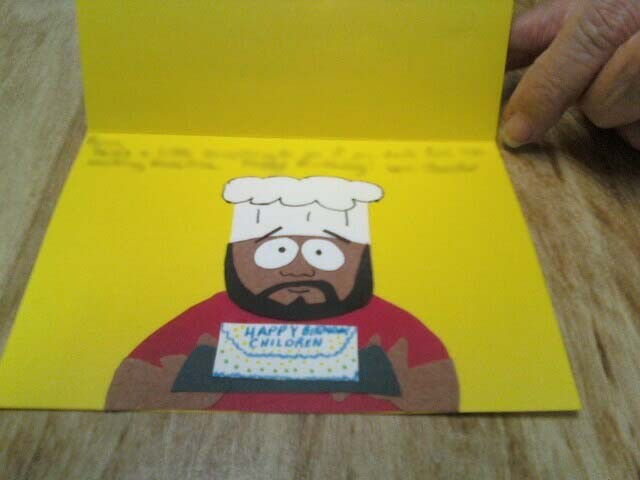 South Park Birthday Card  South Park Chef Greeting Card by Chronia on DeviantArt