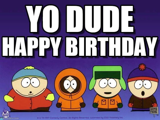 South Park Birthday Card  South Park happy bday Cards To Send